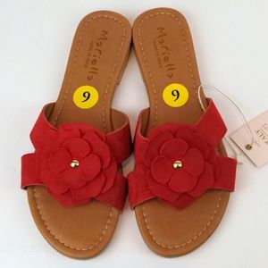 Mariella Made in Italy Genuine Leather Slides